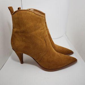 Zara Trafaluc camel tan ankle boots 37